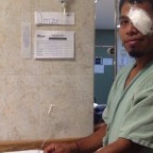 Permanece normalista hospitalizado por agresión militar