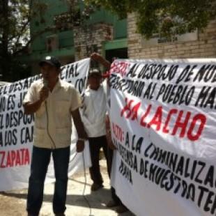 Restitución de tierras, demanda Halachó
