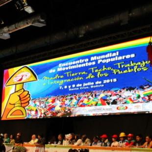 Movimientos populares entregan Decálogo de Santa Cruz a Evo y Papa Francisco