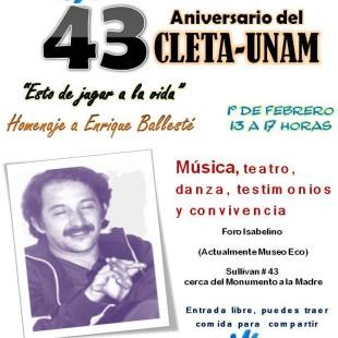 43 Aniversario- Homenaje a Enrique Ballesté