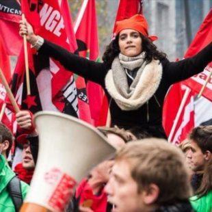 Protestan en Bruselas contra medidas de austeridad del gobierno