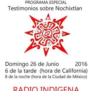 TESTIMONIOS SOBRE NOCHISTLÁN, OAXACA