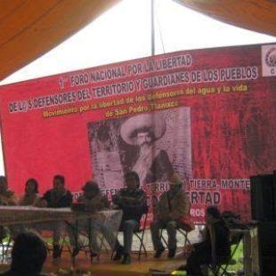 RvsR: 30 de Septiembre: Mitin por la libertad de los defensores del agua y la vida de San Pedro Tlanixco.