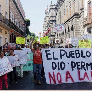 Minera canadiense Almaden Minerals amenaza en Puebla
