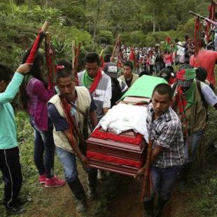 Colombia: paramilitares y fuerzas armadas ocupan territorios dejados por las FARC. Asesinados 42 líderes sociales en 2017