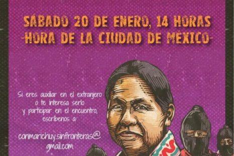Encuentro sin fronteras por Marichuy  SABADO 20 DE ENERO