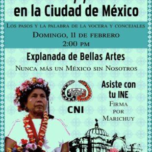 Marichuy y el CIG en Bellas Artes, febrero 11 @ 2:00 pm – 9:00 pm